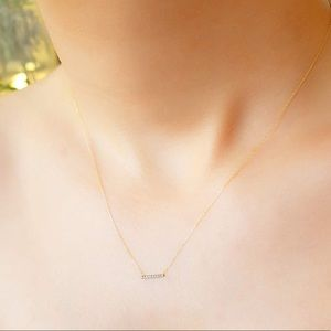 Jewelry - 14k Diamond Bar Necklace
